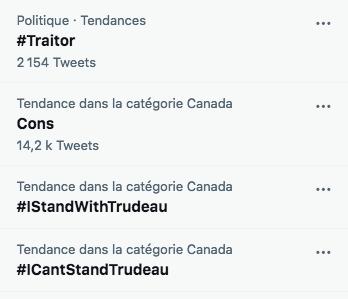 Capture d'écran des tendances Twitter pour le compte @_loupbrun, 3 juillet 2021.